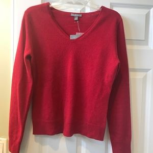 Apt 9 red cashmere sweater NWT